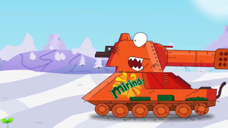 坦克世界动画:KB44多层多眼坦克被推出去迎战 脑子多力量大?