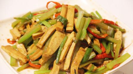 爱素食的一定要收藏,素炒豆腐干最好吃的家常做法,超简单还下饭