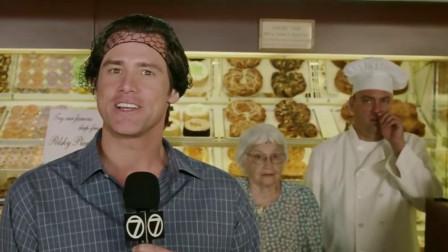 男子正在录制蛋糕店电视视频,身后的烘焙师却忍不住抠鼻子?