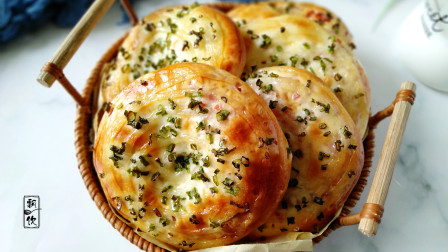 面包也可以像饼一样做,比披萨都香,没烤箱发好了用锅烙,一样香