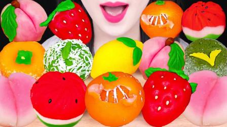颜值爆表的日本甜点和果子,做成各种水果造型,连橘子皮都可以剥下来