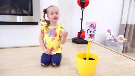 美国少儿时尚,小萝莉把零食种在花盆里,好有趣呀