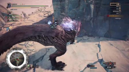 怪物猎人冰原玩大锤的御姐狩猎雷颚龙