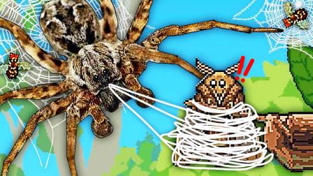 蜘蛛模拟器 我是只来自氪星的蜘蛛,可以用眼睛射激光 阿波兔解说