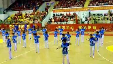 海南老年人体育运动会-广场舞太极养生杖表演