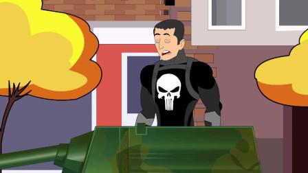 蜘蛛侠被坦克击中,绿巨人这样还击 趣味动漫