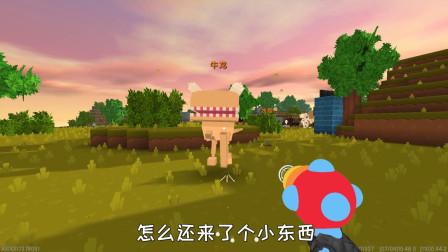 迷你世界真人版286:小振穿越到恐龙世界被牛龙跟水蛭追着打