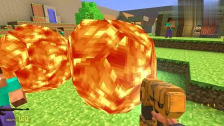 GMOD:奥特曼被火焰哥斯拉怪兽的岩浆石头困住该怎么办?