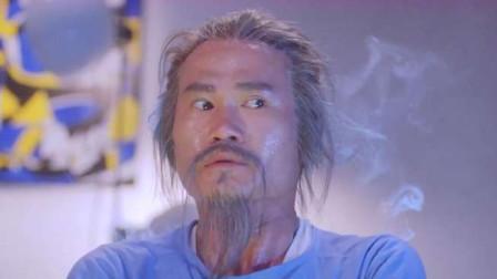 英叔第一次陪王祖贤看电视,害怕的飞起来了