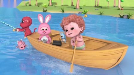 全能宝贝BOBO:我爱划小船 和BOBO一起划船吧