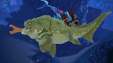 饥饿鲨世界:冰冻僵尸鲨遇到2条邓式霸王鲨,能打得过吗?