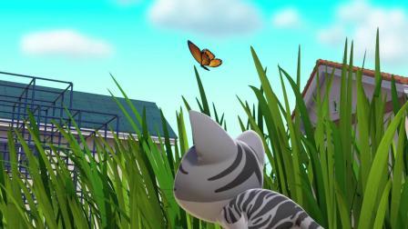 甜甜私房猫:小蝴蝶,你别跑!