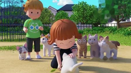 甜甜私房猫:猫咪,你要听话哦!