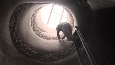 最有毅力的艺术家,独自一人用20多年,徒手打造地下宫殿