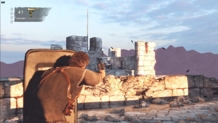 神秘海域3:楚河在沙漠古堡,与英女王狗腿子恶战