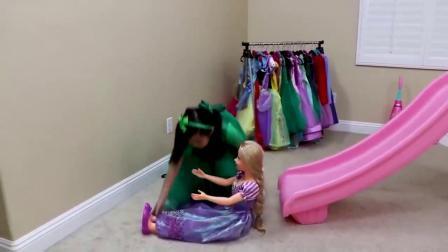 萌宝:萌宝小可爱家里有个迷你滑滑梯