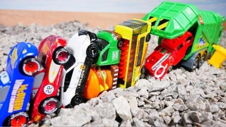 炫彩环保车消防车和赛车玩具