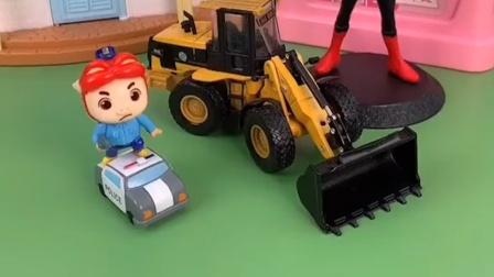 猪猪侠的车子没轮胎了,他的车子开不了了,小朋友快来看看