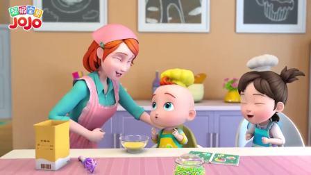 超级宝贝JOJO:宝宝一起和妈妈做甜甜圈