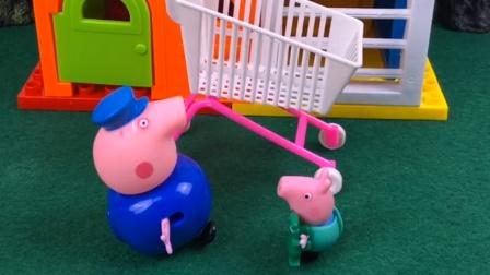 益智宝宝亲子幼教:猪爷爷带乔治去超市
