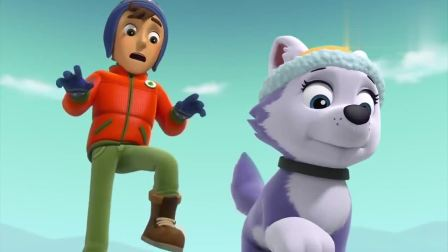 汪汪队:杰克和狗狗穿过冰桥时,桥突然开始开裂了,这可咋办啊