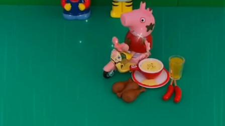 顾客点的餐,佩奇想要赶紧送过去,不管怎么样都要准时送到