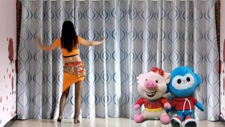 肚皮舞风格广场舞《零度桑巴》一跳舞就停不下来 争取早点瘦下去
