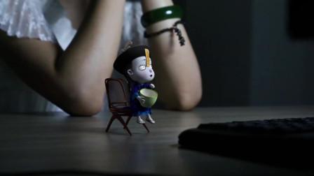 电影中出现小僵尸,僵小鱼:吓死宝宝了