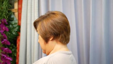50岁大姐,到发廊染染剪剪就是不一样,真时髦