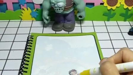 小鬼正在画白雪的照片,手下说这样画太慢了,给画上倒了一些水