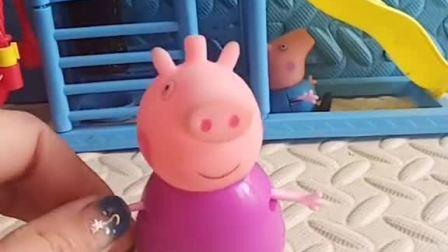 乔治偷偷的藏起来了,猪奶奶怎么喊他出来都不出来,想了一个让他出来的好办法