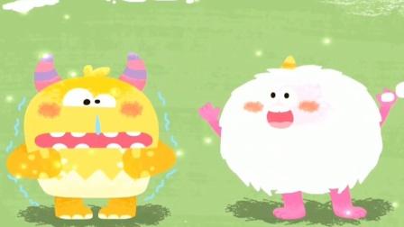 小怪兽冻得流鼻涕,伙伴给他织个帽子!宝宝巴士游戏