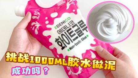 DIY起泡胶大挑战!用1000毫升韩国胶水做泥,能成功吗?效果超好