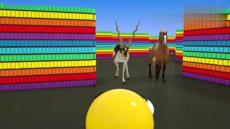 吃豆人在迷宫内遇到了不同的动物, 你都认识吗