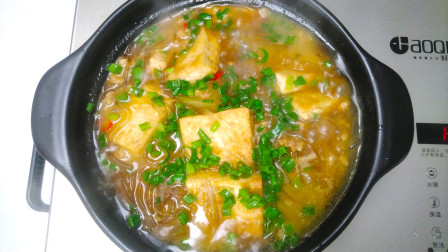 五花肉冬瓜和豆腐好吃的做法,营养美味做法简单,家人都爱吃