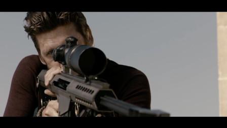 精彩动作片,狙击手用热成像瞄准镜,弹无虚发