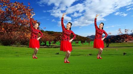 经典歌曲《又见山里红》动作舒展大气,美景美物看不够
