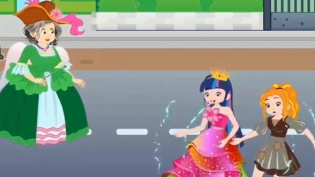 紫悦和阿坤对战黑暗势力,小马国女孩!
