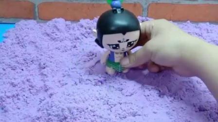 有趣的幼教玩具:七娃种的棒棒糖被谁偷吃了