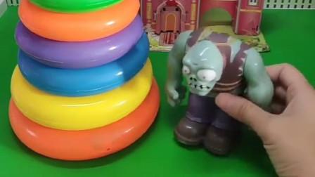 僵尸给小鬼买了五彩套圈塔,被哪吒误以为是妖怪,给推倒了
