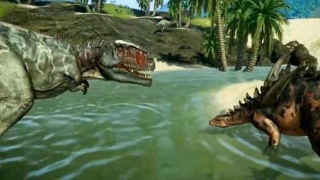 恐龙动画 刺背龙之战