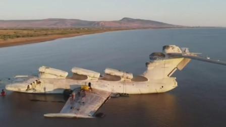前苏联的秘密里海怪物装备6枚巨型反舰导弹巨型地效飞行器