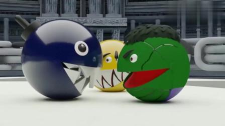 吃豆人大作战:三个吃豆人PK谁厉害