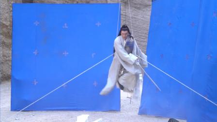 宸汐缘花絮:张震吊威亚拍打戏,群众演员也需要吊着威亚拍