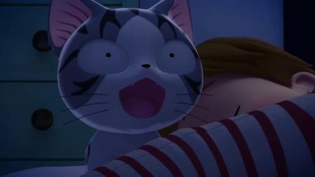 甜甜私房猫:小奇,你不要乱跑了,睡觉哦