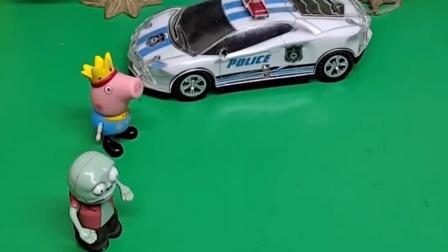 下来了这么多警察,他们是来抓巨人僵尸的,小鬼可怎么办啊