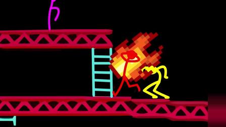 我的世界动画-火柴人学院-金刚游戏挑战-Sticktoon