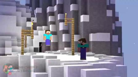 我的世界动画-如果菜鸟找到了Herobrine的家-Minecraft Stories