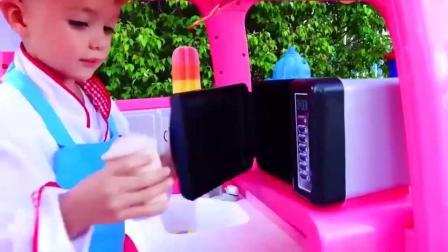 萌宝小可爱制作的冰激凌可真与众不同【童年趣事】