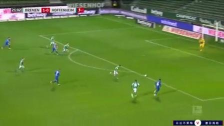 第22分钟霍芬海姆球员斯科夫射门 - 被扑